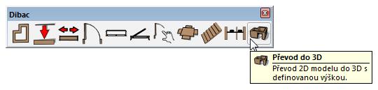 Dibac pro SketchUp - ikonový panel