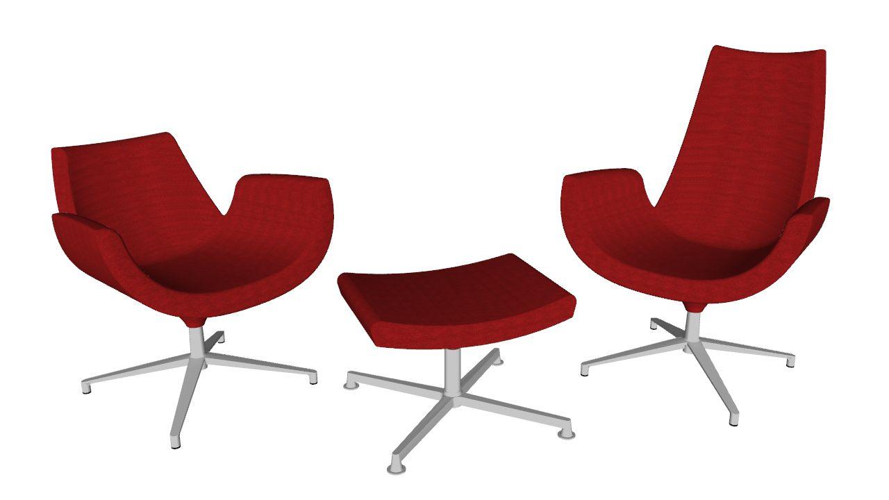 Kancelářský sedací nábytek od LD Seating, série Relax - knihovna komponent pro SketchUp