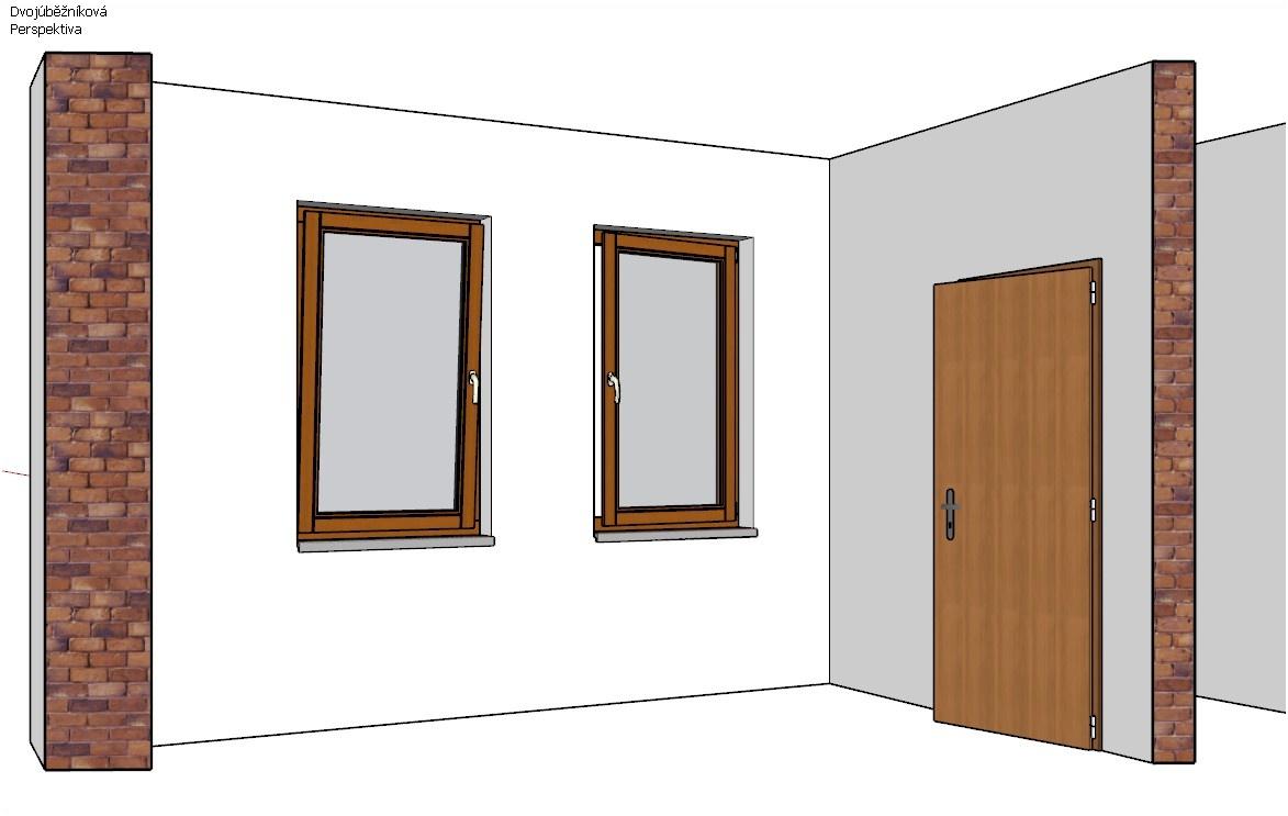 Nástrojem Interakce s dynamickými komponentami klikněte na dveře nebo okno pro jejich otevření