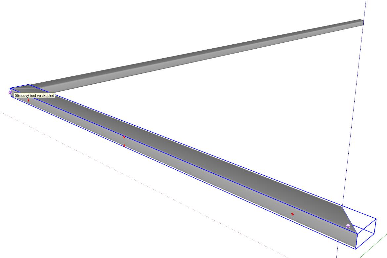 Nástrojem Posun (Move) můžeme díky malým červeným křížkům natočit profil do správné polohy