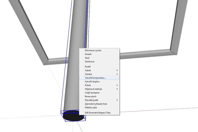 Trubku i víko lze sloučit v jedno např. formou Komponenty