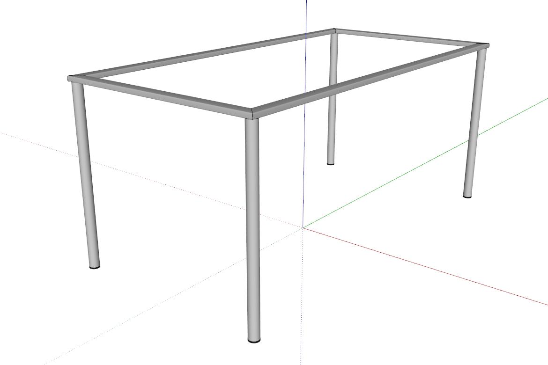 Základní konstrukce je hotová. Díky pluginu Parametrických tvarů je to jen taková stavebnice.