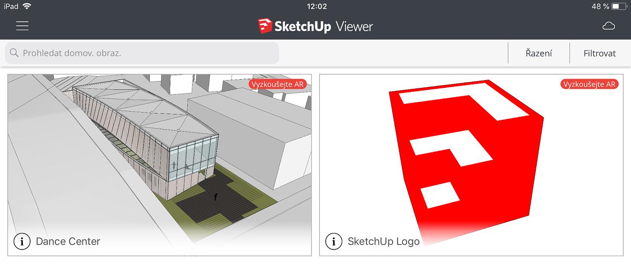 SketchUp Viewer - snadné prohlížení 3D modelů SketchUp na mobilních zařízeních