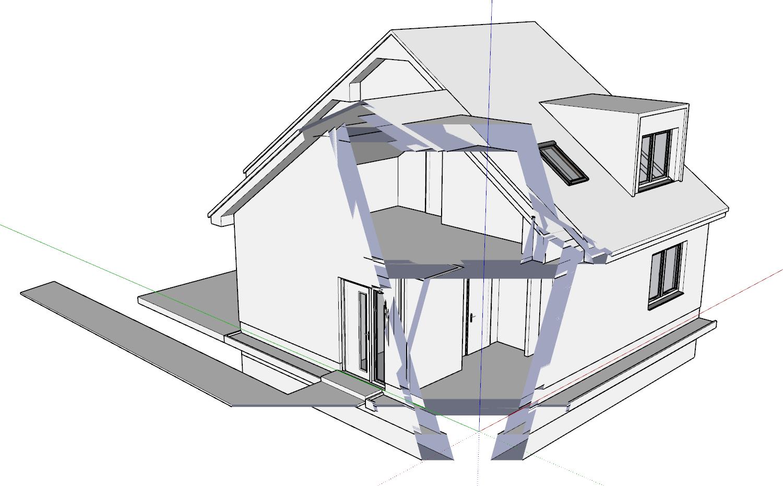 Tip pro práci - Mizející model při prohlížení ve SketchUpu
